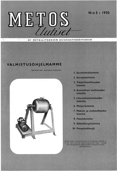 Metos Uutiset no 5 - 1950
