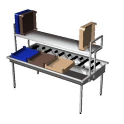 Manual basket sorting units