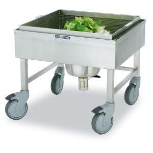 Salad washing trolleys
