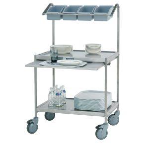 Dish return trolleys